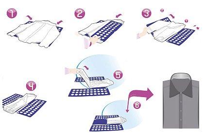 7a44cf044652 Pomôcka na rýchle skladanie oblečenia Pomôcka na rýchle skladanie oblečenia