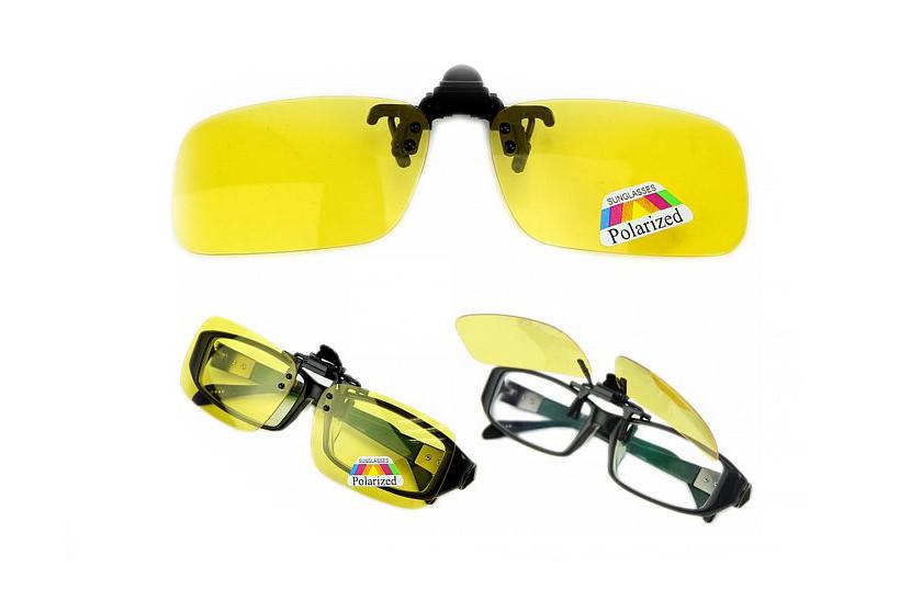 Polarizačný klip na okuliare - Eliminuje odlesky a odrazy svetiel ... 84862200422