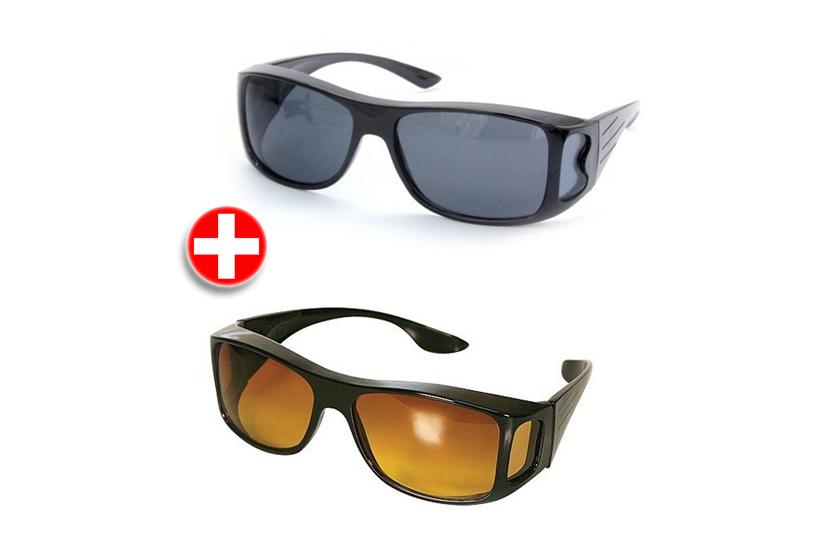 2c51a0dd9 Okuliare pre vodičov - HD Vision 2 kusy pre deň i noc. | www.cool ...